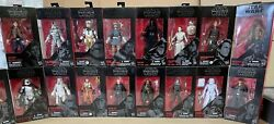 Star Wars The Black Series 6 Inch Red Line Action Figures 2015-2019 New Sealed
