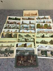 Lot Of 25 Color Stereoviews And Book On Stereoviews