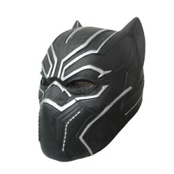 Black Panther Latex Full Head Mask For Infinity War Avengers Costume Cosplay