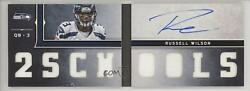 2012 Playbook Materials Blue Foil Signature /99 Russell Wilson 6 Rookie Auto