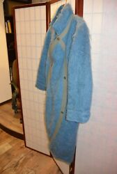 Ko And Co Jean Charles De Castelbajac 70's Vintage Turquoise Blue Coat . Aly