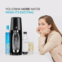 Sodastream Fizzi One Touch Sparkling Water Maker Bundle Black With Co2, Bpa Fr