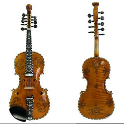 Hand Made Solid Wood Norwegian Fiddle 4/4 Violin 44 Strings,powerful Sound