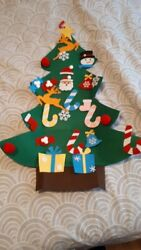 OurWarm DIY Felt Christmas Tree New Year Gifts Kids Toys Artificial Tree Wall