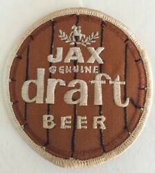 Vtg Old Jax Genuine Draft Beer Patch Jackson Brewing New Orleans Louisiana Rare