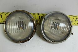Oem Gm Pair Of Fog Lights Guide A-50 Rh Lh Lamps 1952 Cadillac Svm53
