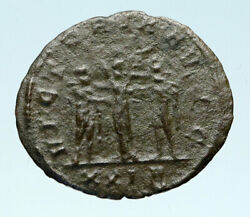 Diocletian And Maximian With Victory Authentic Ancient 288ad Roman Coin I83034