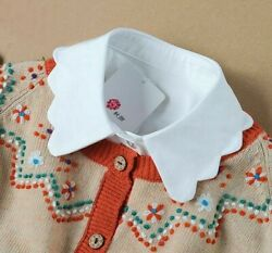 Females Half-shirts Removable False Collars Fashionable Cotton Ties Typed Collar