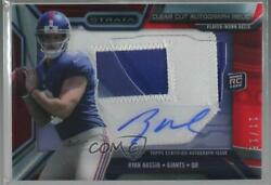 2013 Topps Strata Clear Cut Relics Ruby /15 Ryan Nassib Rpa Rookie Patch Auto