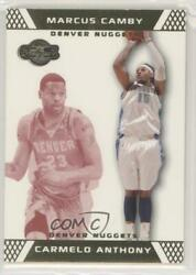 2007-08 Topps Co-signers Gold Red /109 Carmelo Anthony Marcus Camby 15.1