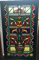 Aesthetic Movement Stained Glass Window