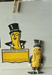 Planters Nuts Mr Peanut Double Sided Advertising Signwith Mr Peanut Doll