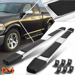 For 09-20 Ram 1500 Truck Ext/quad Cab 6 Side Step Nerf Bar Flat Running Board