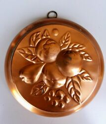 Vintage Fruit Copper Mold Made In Sweden 2lr Kitchen Wall Decor Jello Cake 9