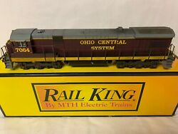 ✅mth Railking Scale Weathered Ohio Central C30-7 Diesel Engine Protosound 3.0