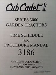 Cub Cadet Ccc Mtd 3186 Garden Tractor Time Schedule And Service Procedure Manual