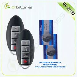 Qty2 For Altima Infinit Replacement Keyless Entry Remote Key Smart Prox Fob