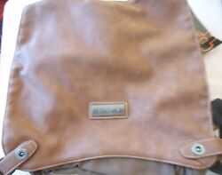 DOUGUYAN MESSENGER BAG BACKPACK CANVAS amp; LEATHER BROWN NEW WITH TAGS $17.00
