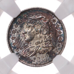 1833 Capped Bust H10c Ngc Certified Ms65 Toned Us Silver Half Dime Coin