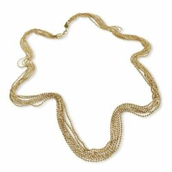 Deluxe 14k Yellow Gold Delicate Balls Necklace