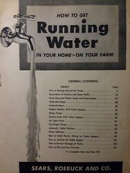 Sears How To Get Running Water In Your Home On Farm Systems Wind Mill Well Pump