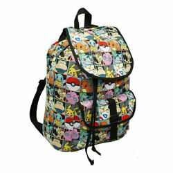 Pokemon All Over Print Pikachu and Characters Checkered Rucksack Backpack School $18.99