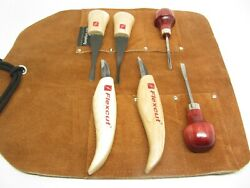 Flexcut Beginner Palm And Knife Set Ramelson Gouge And Bent V Woodcarving Tools