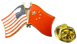 Wholesale Pack Of 50 Usa 50 Star And China Country Friendship Hat Cap Lapel Pin