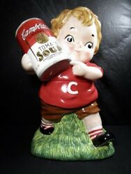 Campbell's Tomato Soup Cookie Jar - Standout Featuring A Campbell's Kid