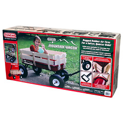 Duncan Toys Mountain Wagon - Pull-along Wagon For Kids With Wooden Panels All