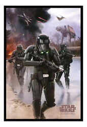 89526 Star Wars Rogue One Death Trooper On Beach Decor Laminated Poster Us