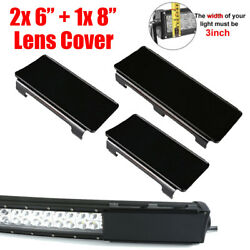 20 Inch Snap On Black Led Light Bar Lens Covers For Atv Truck Offroad 4wd 120w
