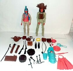 Johnny West Adventure Wildflower And Chief Cheorkee With Accessories Marx 1975