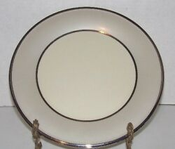 Lenox China Ivory Frost Platinum Dinner Plate - Round/10.5 Wide