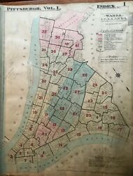 1923 Pittsburgh Pa Post Office Mellon Bank Index Page And Plat 1 Atlas Map