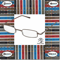 READING GLASSES FOR MEN WOMEN WITH CASE 2 4 8 10 PACK SPRING HINGE WITH CASE $11.95