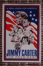 93492 Jimmy Carter For President Campaign 1976 Decor Laminated Poster Us