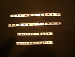 Lionel 2531-47 Silver Dawn 2 And 2532-49 Lionel Lines 2 Metal Adhesive Plates