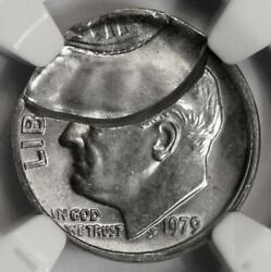 1979 Ngc Ms64 Brockage By Off Center Dime Mint Error Rare Wow Just Amazing