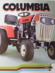 Columbia Mtd French Version Lawn Garden Tractor Color Sales Brochure Manual