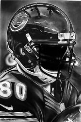 Chicago Bears Painting By Topps Artist Dave Hobrecht - Wood Print