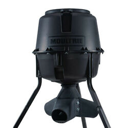 Moultrie 13339 30 Gallon Drum Gravity Tripod Wild Game Fish And Deer Feeder, Black
