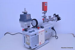 Edwards Rv3 Vacuum Pump With Apg-m-nw16 Active Pirani Gage For Mass Spectrometer
