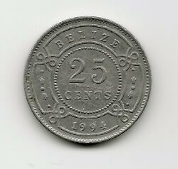 World Coins - Belize 25 Cents 1994 Coin Km 36 Lot-b2
