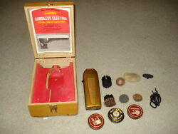 Vintage Empire Cordless Electric Shoe Care Set in wooden box