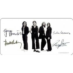 The Beatles With Autographs Photo Plate