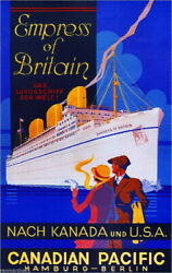 96433 Canadia Pacific Empress Of Britain Canadian Decor Laminated Poster Us