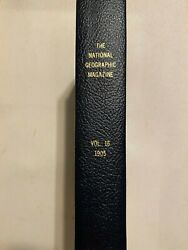 National Geographic Magazine Vol. 16 1905 Full Year Bound All Maps