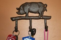 Cast Iron Pig Wall Hooks 7 Inch H-120