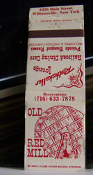 Rare Vintage Matchbook Cover K1 Williamsville New York Railroad Dining Red Mill